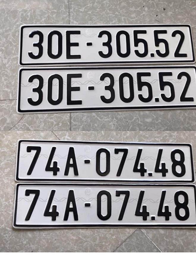 Nhận đổi biển số mẫu cũ sang mẫu mới & biển số form mới về form cũ 5
