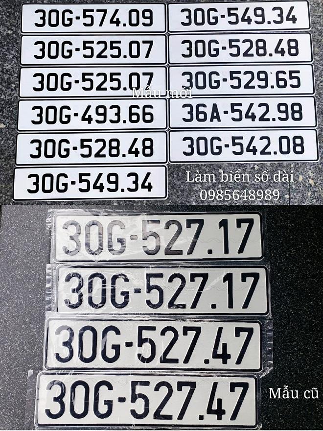 Nhận đổi biển số mẫu cũ sang mẫu mới & biển số form mới về form cũ