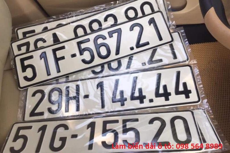 Biển số dài ô tô - Thủ tục làm và chi phi làm biển sô dài xe hơi 5