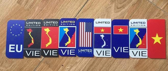 Dịch vụ ép biển số, cung cấp khung biển số có hình quốc kỳ, cờ các nước 9