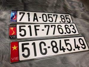 Dịch vụ ép biển số, cung cấp khung biển số có hình quốc kỳ, cờ các nước 8