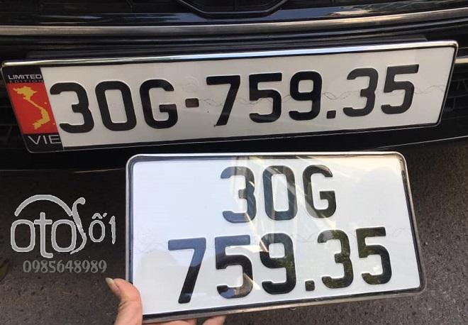 Biển số dài ô tô - Thủ tục làm và chi phi làm biển sô dài xe hơi 2