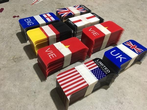 Khung biển số Châu Âu, khung biển số cờ - Ép biên số tại nhà 6