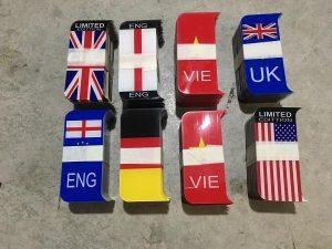 Dịch vụ ép biển số, cung cấp khung biển số có hình quốc kỳ, cờ các nước 11