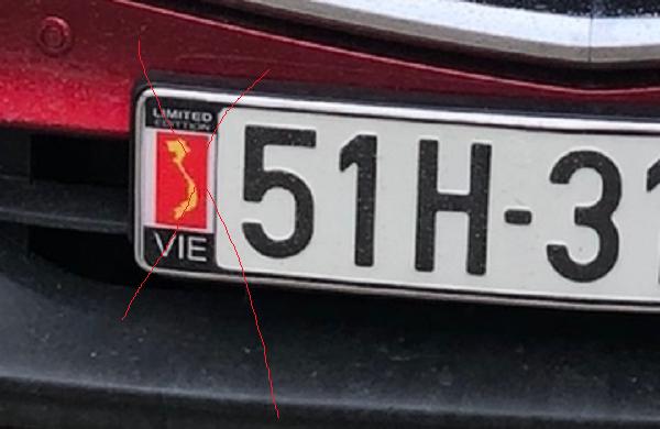 Ép biển số ô tô khung biển số bản đồ Việt Nam có bị phạt không? 3