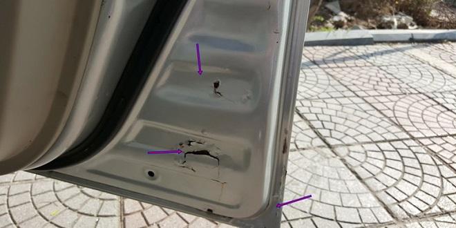 Cách nhận biêt xe ô tô cũ bị tai nạn - Kinh nghiêm mua xe cũ 6