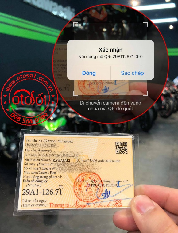 Cách nhận biết giấy đăng ký xe, Cavet xe thật hay giả 13